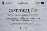 Czytaj więcej: Stowarzyszenie z Wróblowic z certyfikatem